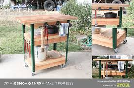 diy grill table plans ep65 grill station homemade modern