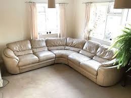 Most Comfortable Couch by The Most Comfortable Beige Leather Corner Sofa In Horsham West