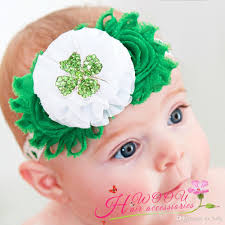 green headband sweet baby st s day headband green four leaf clover