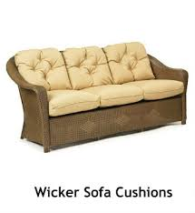 Cushions For Wicker Settee Wicker And Rattan Cushions Lloyd Flanders Cushions