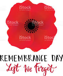 vector illustration of a bright poppy flower remembrance day