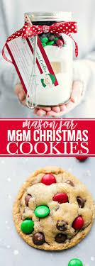 christmas cookie gifts jar gift m m christmas cookies free printable chelsea s