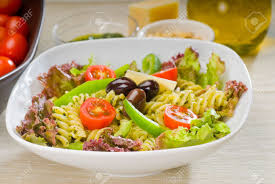 Homemade Pasta Salad by Fresh Healthy Homemade Italian Fusilli Pasta Salad With Parmesan