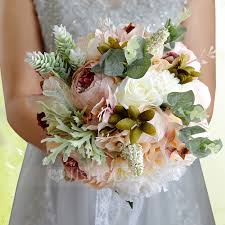 bridesmaid bouquets satin silk bridal bouquets 123114695 wedding flowers