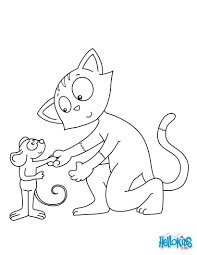 cat mouse friends coloring pages hellokids