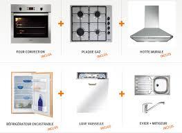 uipement cuisine pas cher cuisine avec electromenager pas cher cuisine surface cbel