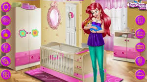 Room Games Decorating - ariel baby room decoration play the game online