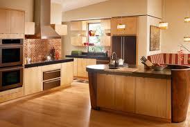 presenting dark brown varnished wooden kitchen cabinet design
