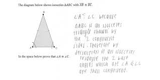 isosceles triangle proof students are asked to prove that the base