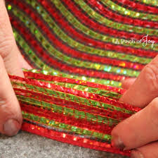 wide mesh ribbon how to make a simple mesh garland