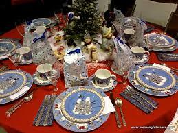 Christmas Table Decoration Ideas Blue Silver by Christmas Table Decorations