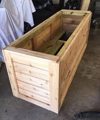 diy planter box backyard diy series part iiii cedar wood planter box ashley