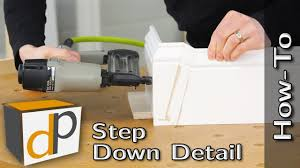 how to make a baseboard step down detail bonus trim tips youtube