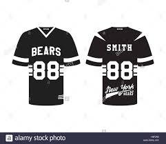 american football uniform t shirt design with team logo label