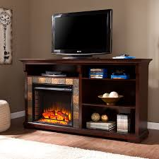 bookshelf electric fireplace espresso