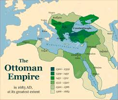 Beginning Of Ottoman Empire The Ottoman Empire At Its Greatest Extent In 1683 Vector