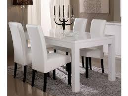 table cuisine blanche table cuisine blanche laque avec rallonge manger crystalline 11