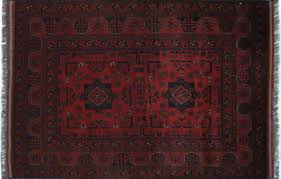 Bokhara Oriental Rugs 4 U0027x5 U0027 Oriental Tribal Red Bokhara Hand Knotted Wool Area Rug H9439