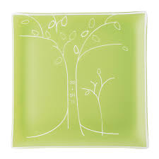 anniversary plate personalized tree anniversary plate engraved square plate