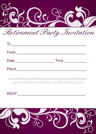 party invitations marvelous free printable retirement party