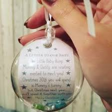 Baby S First Christmas Bauble 2012 Personalise by Personalised Christmas Bauble Baby U0027s First Christmas Bauble