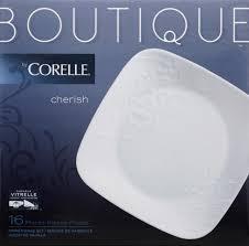 Corelle Dishes Ebay Corelle Cherish White Square Embossed 16 Piece Vitrelle Glass Set