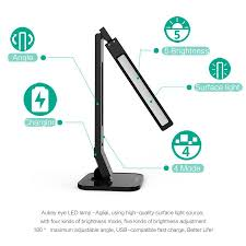 table l with usb charging port lt t1 2a usb charging port with adjustable dimmable eye care led