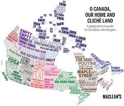 Map Of Canada Provinces by Canadian Stereotypes Mapped