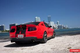 Black Mustang Red Stripes Red Ford Mustang With Black Stripes On Vossen Wheels Gallery