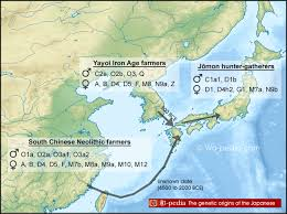 Map Of World Before Ice Age by The Origins Of The Japanese People Japanese History Wa Pedia