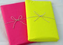 wrapping paper in bulk neon tissue paper hot pink neon yellow tissue paper in