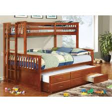 Furniture Of America Williams Twin XL Over Queen Bunk Bed - Twin xl bunk bed