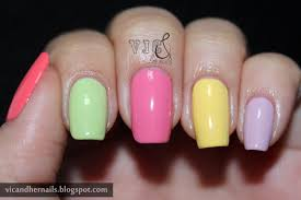 vic and her nails ice cream mani and etude house ice cream nails