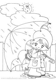 Day Coloring Rainy Day Coloring Pages