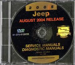 2005 jeep grand cherokee liberty repair shop manual on cd rom