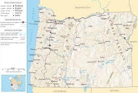 Oregon Road Map Map Of Oregon Na 1 U2022 Mapsof Net