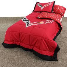 Corvette Bed Set Corvette Emblems Printed Sheet Set The Corvette Store
