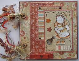 handmade scrapbook albums ooak handmade autumn garden girl broom scrapbook photo album journal