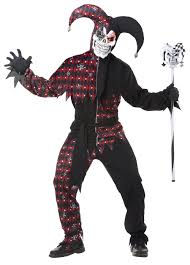 men u0027s sinister jester joker halloween costume cosplay set shirt
