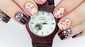 packapunchpolish floral and pearl nail art featuring jord wood