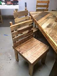 Dining Table Chairs Set Pallet Dining Table With Chairs Set