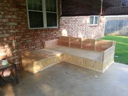 Plans To Build Outdoor Storage Bench by Ana White Outdoor Seating Area From Outdoor Sectional Plan With