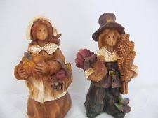 thanksgiving figures ganz pilgrim family figures resin thanksgiving figurines euc w58