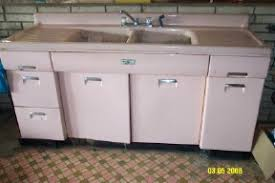 Big Set Of Pink Beauty Queen Metal Cabinets Now On The Postwar - Steel queen kitchen sinks