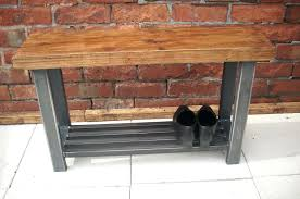 Hallway Bench Storage by Cd Wall Storage Solutions Hallway Bench With Shoe Shelf To Base In