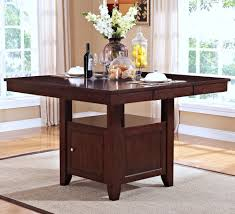 kaylee square rectangular counter height dining table in brown by