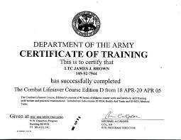 Combat Lifesaver Certificate Template template combat lifesaver certificate template course combat