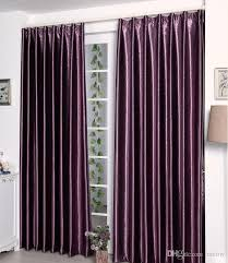 Thick Purple Curtains Satin Blackout Curtain Thick Shade Sunshade Blackout Cloth Living