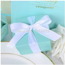 boxes for wedding favors 100pcs tiffanyblue wedding favors candy box wedding candy holders