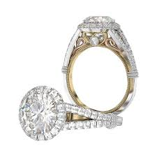engagement style rings images Two tone halo engagement ring vintage style jpg